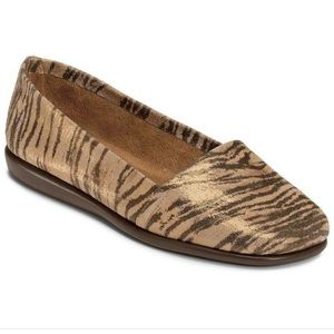 Aerosoles Mr. Softee Tiger Stripe Shimmer Flats